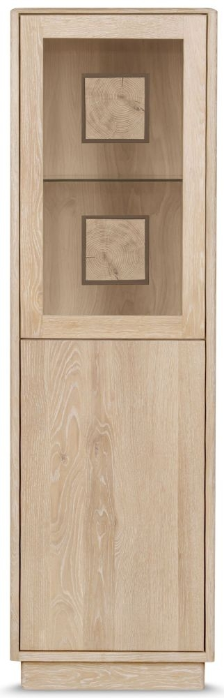 Clemence Richard Portofino Oak 2 Door Display Cabinet Type 920B