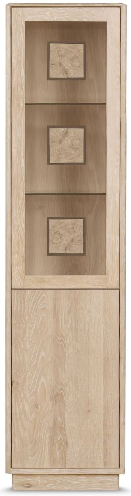 Clemence Richard Portofino Oak 2 Door Glass Display Cabinet Type 905D