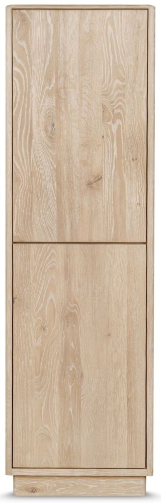 Clemence Richard Portofino Oak 2 Door Wooden Display Cabinet Type 905C