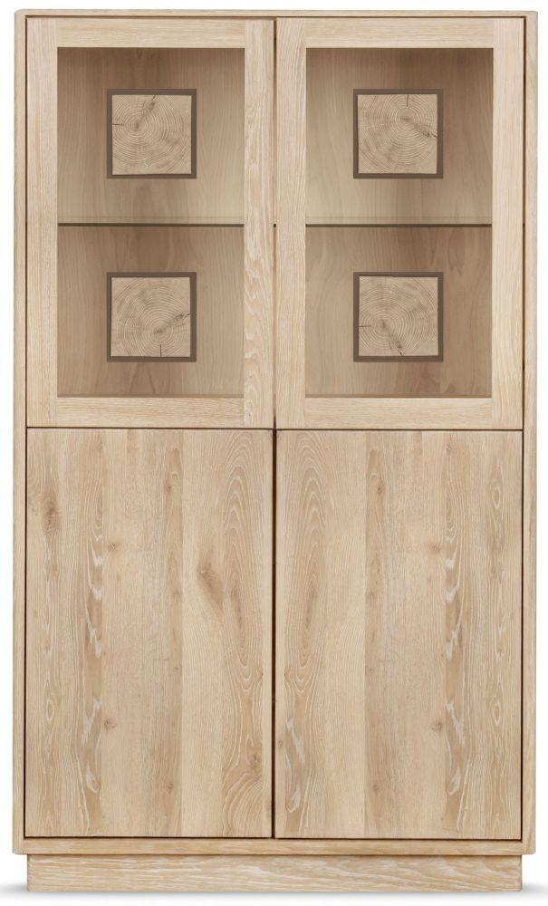 Clemence Richard Portofino Oak 4 Door High Display Cabinet - 910C
