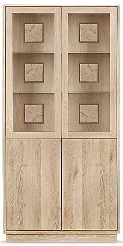 Clemence Richard Portofino Oak High Display Cabinet Type 910C