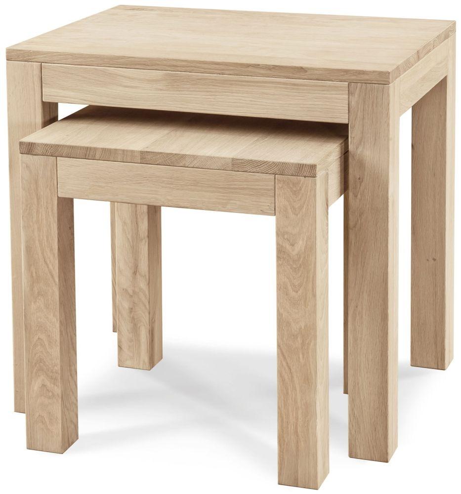 Clemence Richard Portofino Oak Nest of Tables