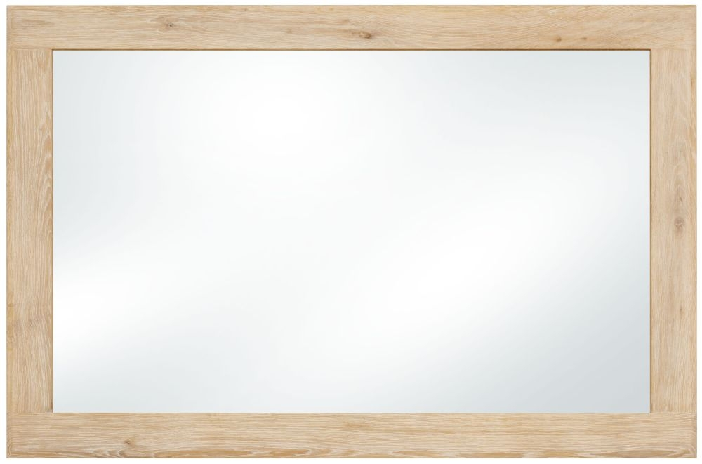 Clemence Richard Portofino Oak Rectangular Wall Mirror - 80cm x 120cm