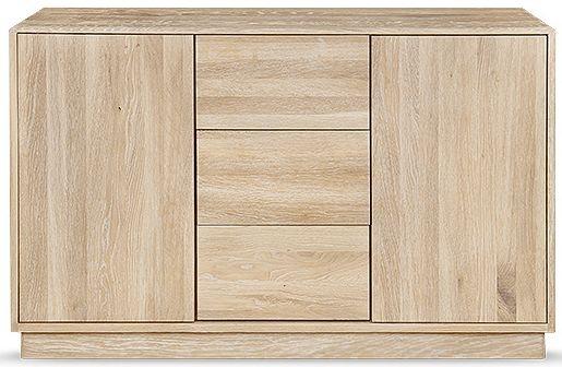 Clemence Richard Portofino Oak 2 Door Narrow Sideboard Type 902A
