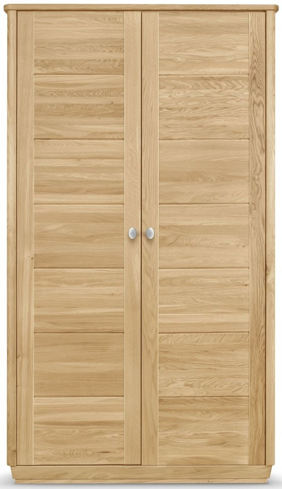 Clemence Richard Sofia Oak 2 Door Wardrobe
