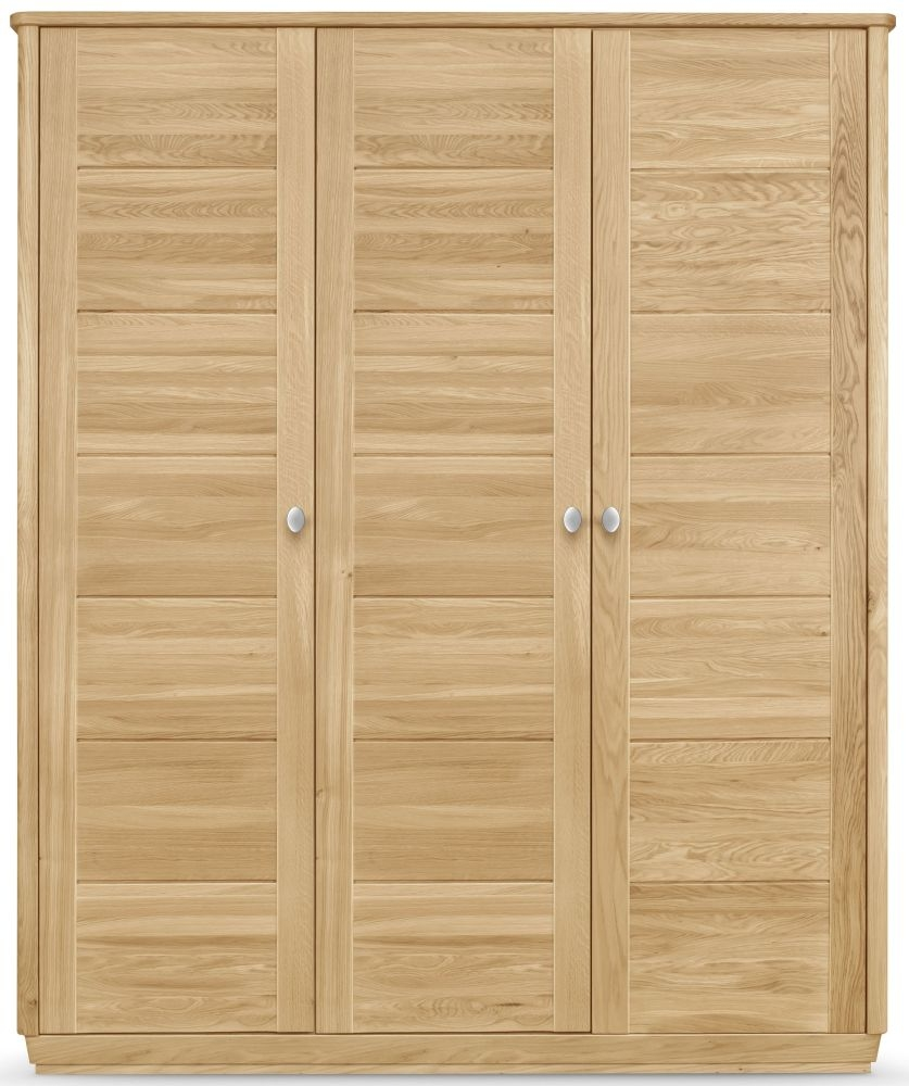 Clemence Richard Sofia Oak 3 Door Wardrobe