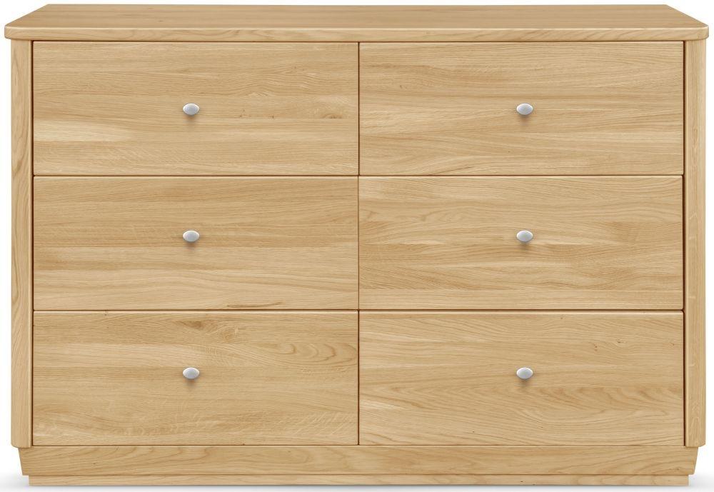 Clemence Richard Sofia Oak 6 Drawer Sideboard