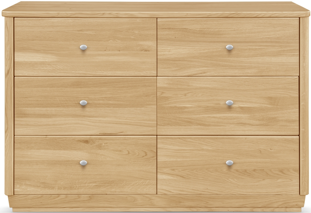 Clemence Richard Sofia Oak 6 Drawer Wide Sideboard