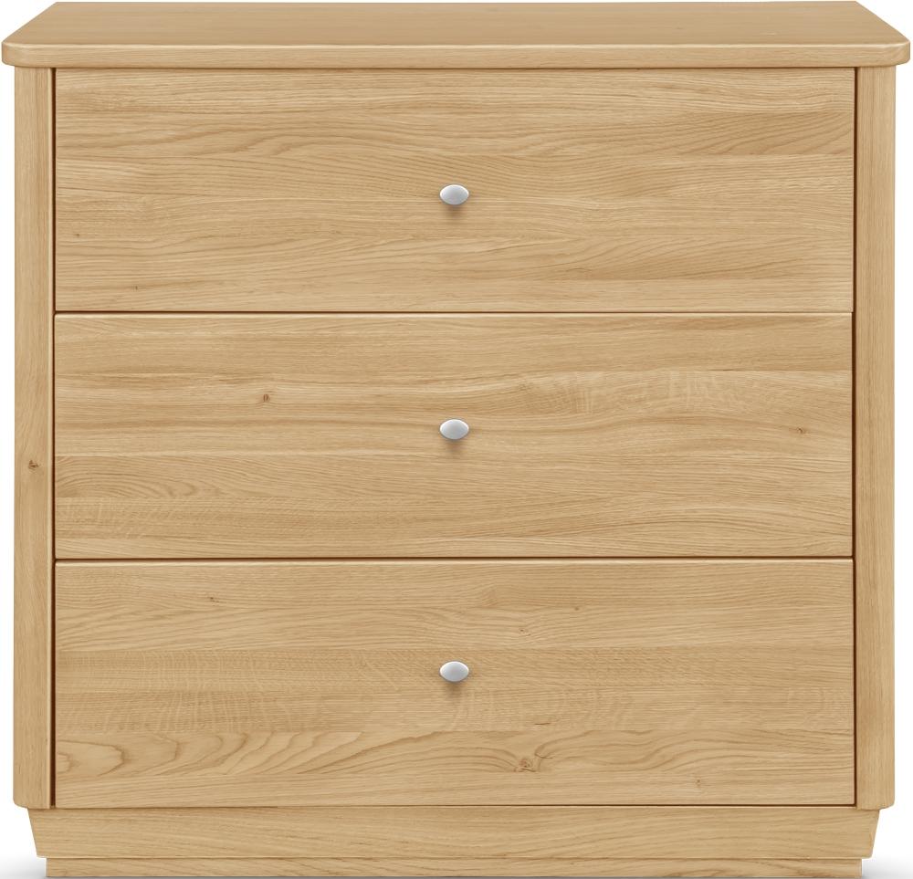 Clemence Richard Sofia Oak 3 Drawer Narrow Sideboard