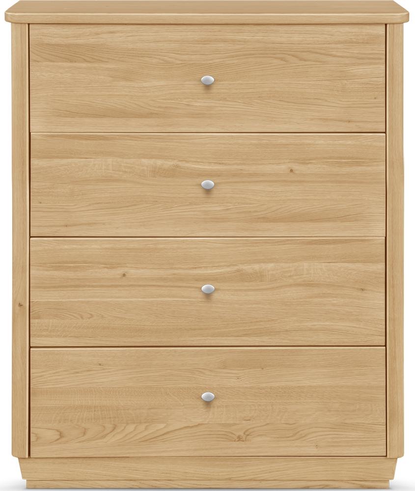 Clemence Richard Sofia Oak 4 Drawer Narrow Sideboard