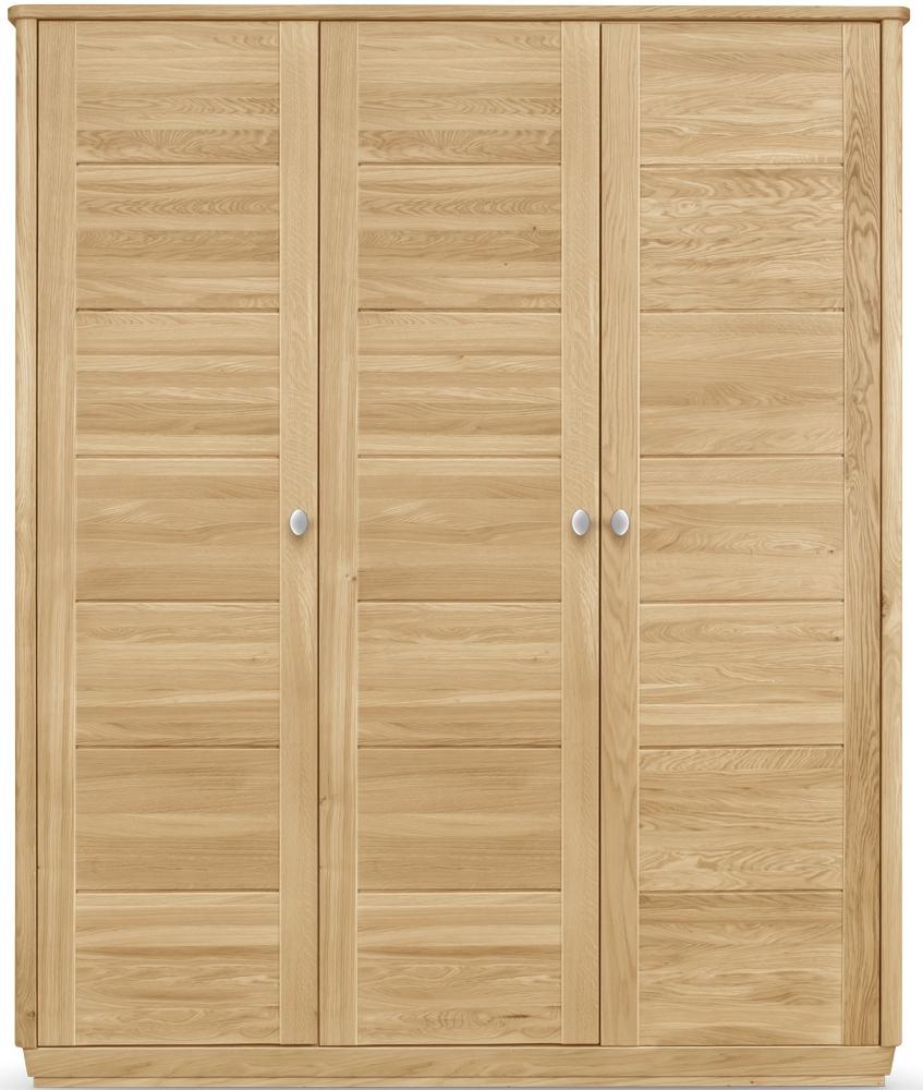 Clemence Richard Sofia Oak 3 Door Triple Wardrobe
