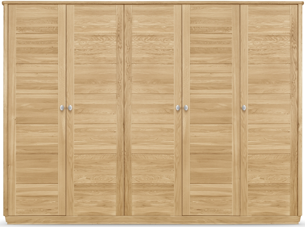 Clemence Richard Sofia Oak 5 Door Wardrobe