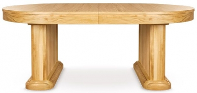 Clemence Richard Sorento Oak Dining Table with 50cm Leaf