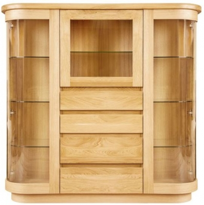 Clemence Richard Sorento Oak Display Cabinet with Glass Door