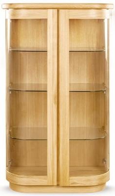 Clemence Richard Sorento Oak Display Cabinet