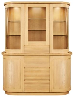 Clemence Richard Sorento Oak Dresser with Glass Top