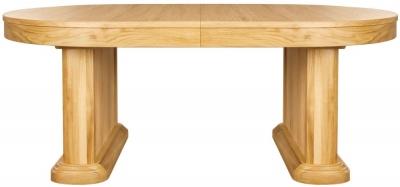 Clemence Richard Sorento Oak Oval Dining Table