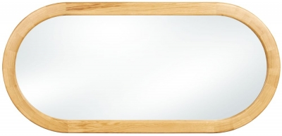 Clemence Richard Sorento Oak Oval Mirror