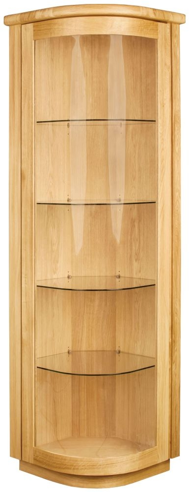 Clemence Richard Sorento Oak 1 Door Corner Display Cabinet