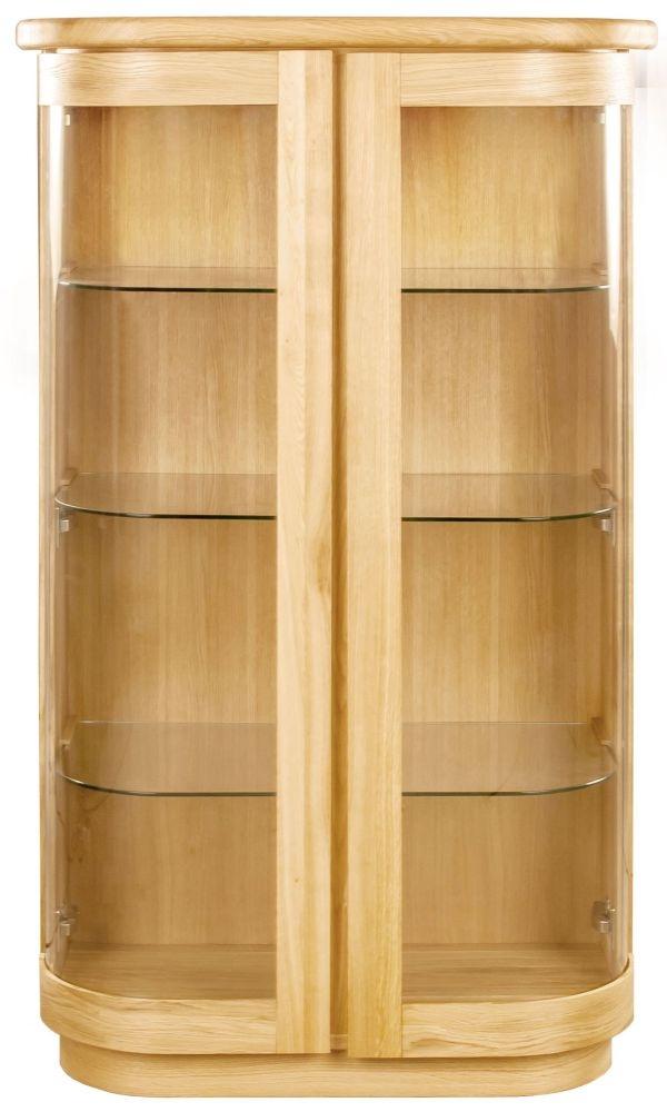 Clemence Richard Sorento Oak 2 Glass Door Display Cabinet