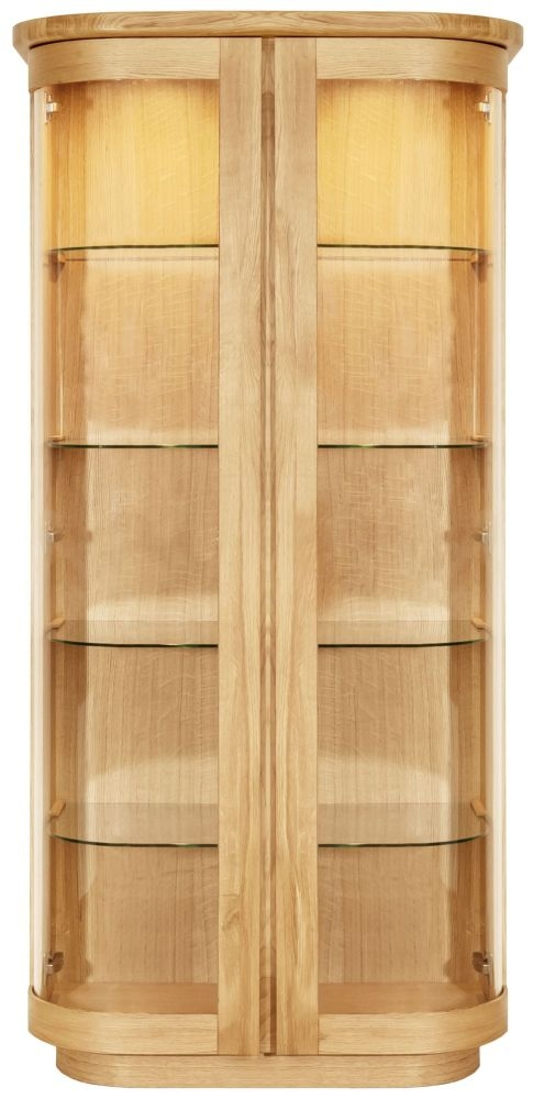Clemence Richard Sorento Oak 2 Glass Door High Display Cabinet