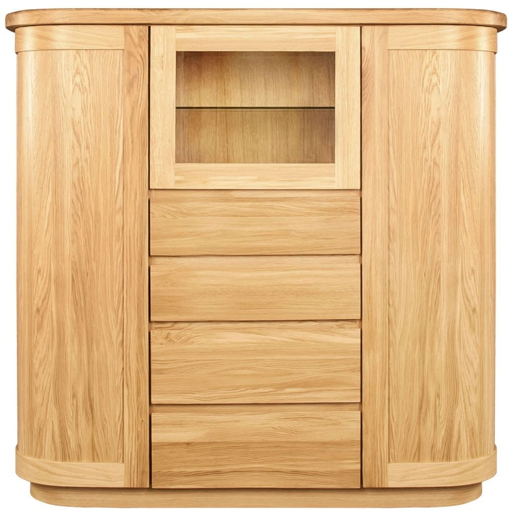 Clemence Richard Sorento Oak 3 Door Combi Display Cabinet