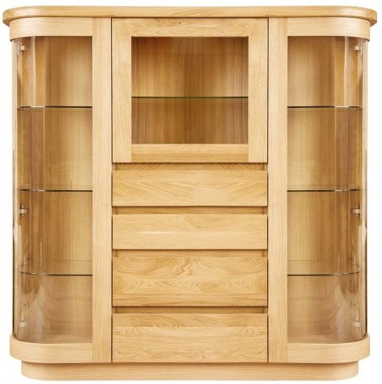 Buy Clemence Richard Sorento Oak Display Cabinet With Glass Door
