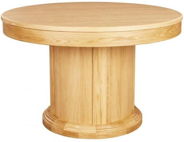 Clemence Richard Sorento Oak Round Dining Table with 50cm Leaf