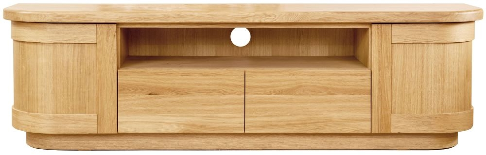 Beau Clemence Richard Sorento Oak TV Cabinet 7585