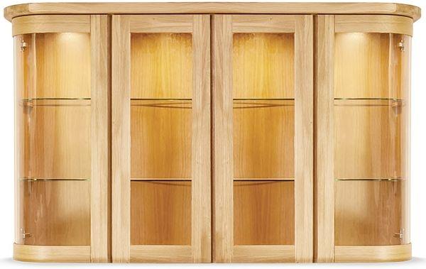 Clemence Richard Sorento Oak 4 Glass Door Wide Top Sideboard Type 7584