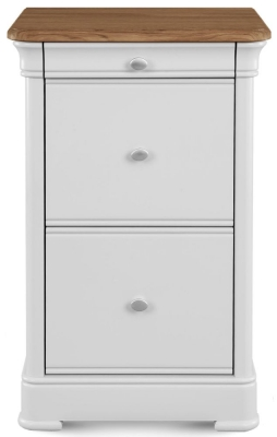 Clemence Richard Tuscany Painted Oak 3 Drawer Filing Cabinet