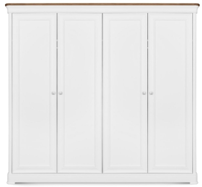 Clemence Richard Tuscany Painted Oak 4 Door Wardrobe
