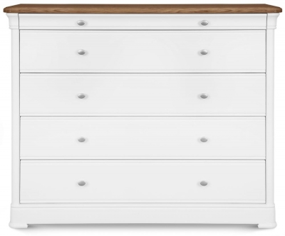Clemence Richard Tuscany Painted Oak 5 Wide Chest of Drawer