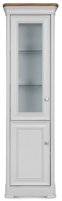 Clemence Richard Tuscany Painted Oak Compact Glazed Display Cabinet