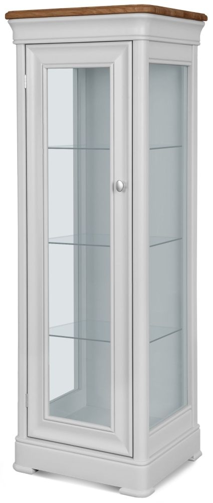 Clemence Richard Tuscany Painted Oak 1 Door Display Cabinet