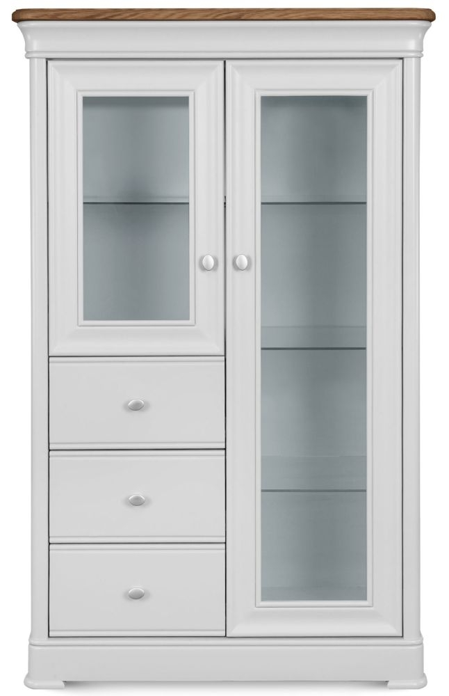 Clemence Richard Tuscany Painted Oak 2 Door 3 Drawer Display Cabinet
