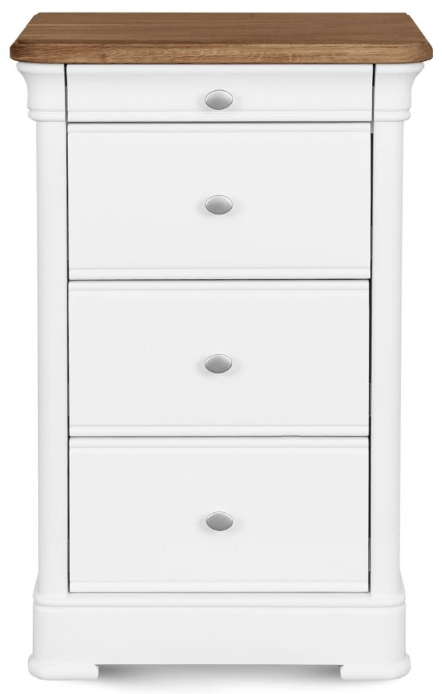 Clemence Richard Tuscany Painted Oak 4 Narrow Chest of Drawer