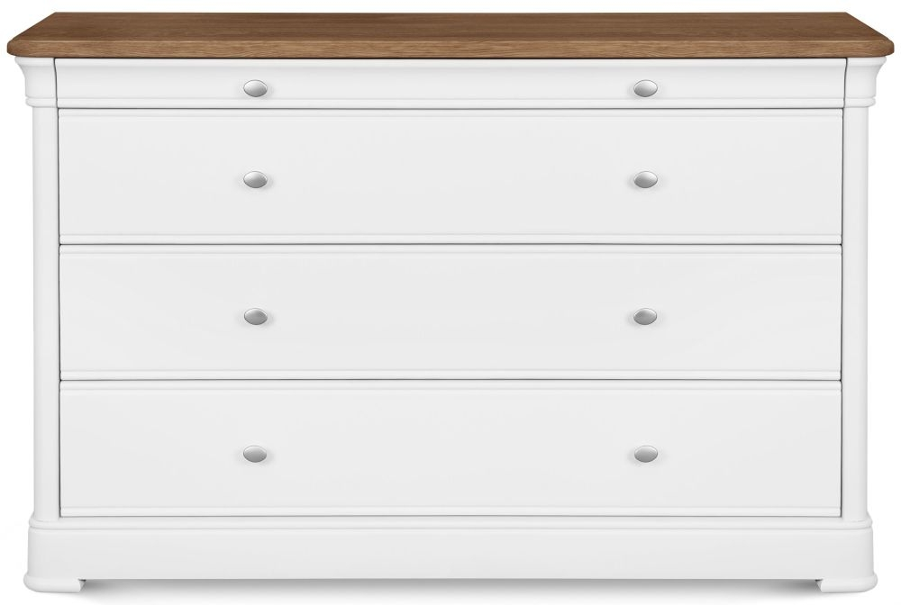 Clemence Richard Tuscany Painted Oak 4 Wide Chest of Drawer