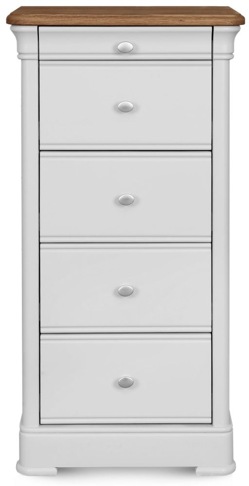 Clemence Richard Tuscany Painted Oak 5 Drawer Wellington Chest