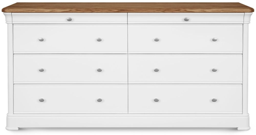 Clemence Richard Tuscany Painted Oak 8 Wide Chest of Drawer