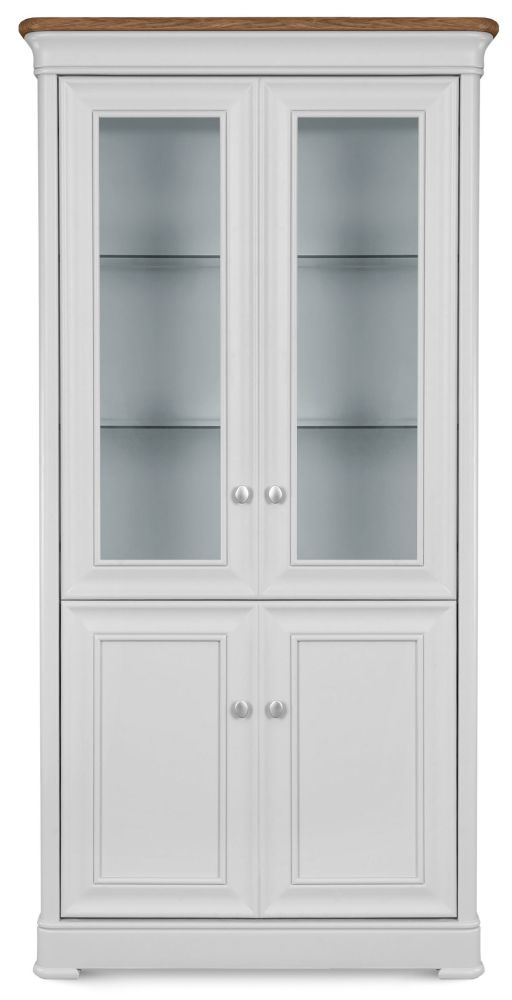 Clemence Richard Tuscany Painted Oak Glazed Display Cabinet
