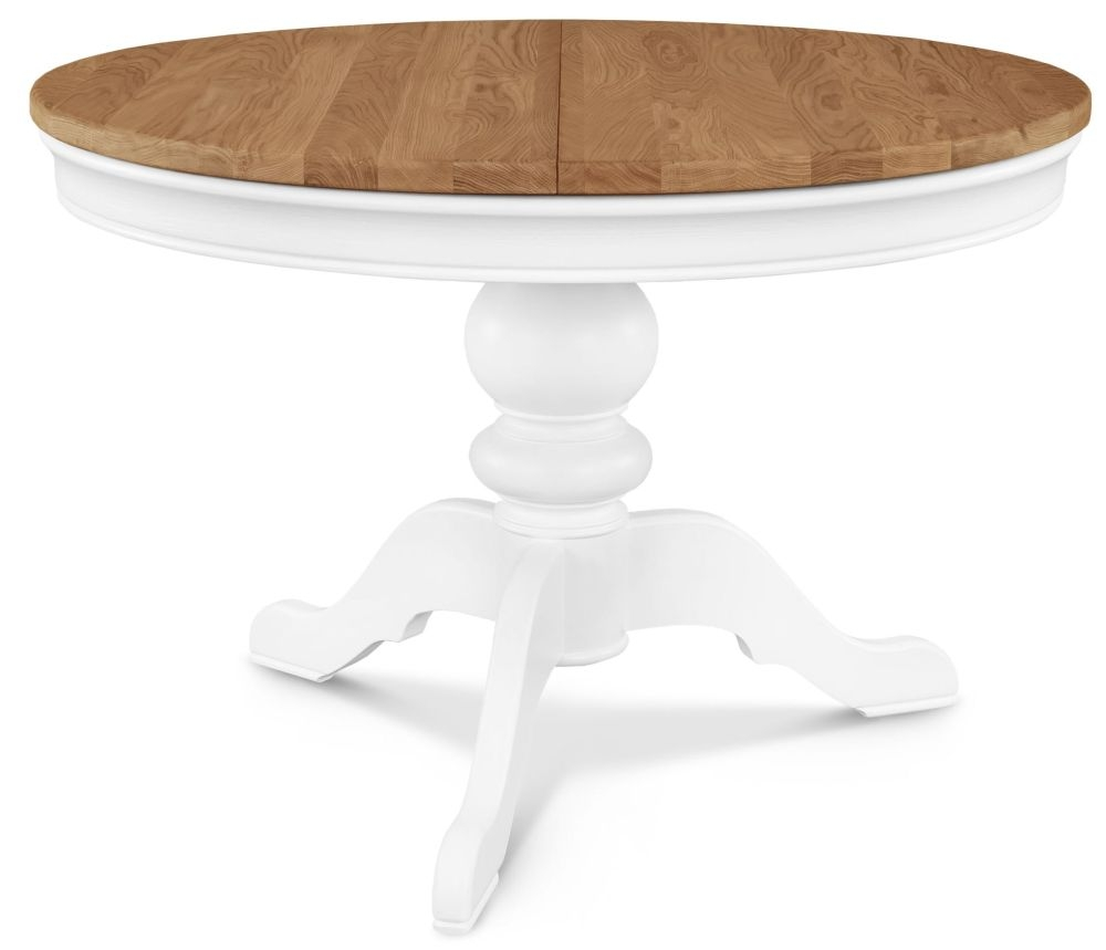 Clemence Richard Tuscany Painted Oak Single Pedestal Extending Dining Table