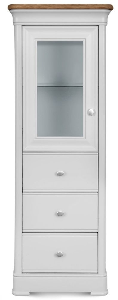 Clemence Richard Tuscany Painted Oak Tall Display Cabinet