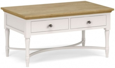Corndell Annecy Oak Top Coffee Table with Drawer