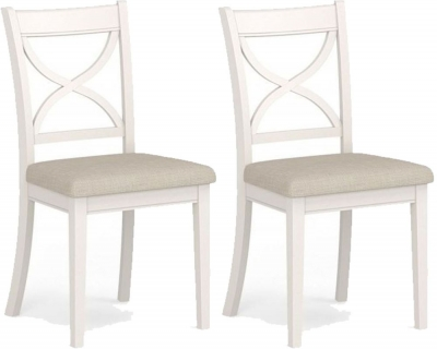 Corndell Annecy Smoke Grey Painted Dining Chair (Pair)