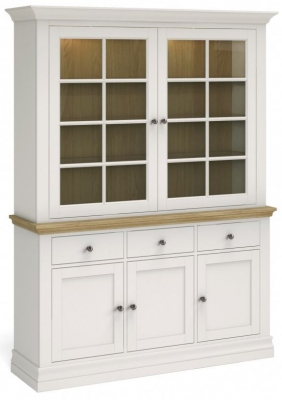 Corndell Annecy Smoke Grey Painted Large Sideboard with Dresser Top