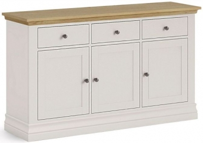 Corndell Annecy Smoke Grey Painted Large Sideboard