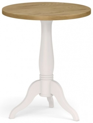 Corndell Annecy Oak Top Round Side Table