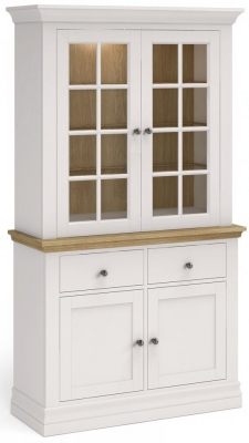 Corndell Annecy Oak Top Small Sideboard with Dresser Top