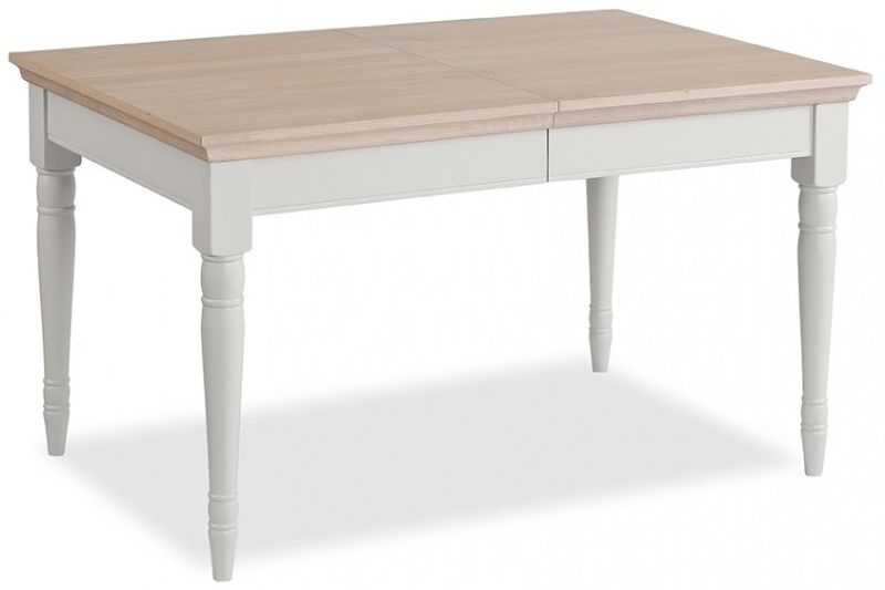 Corndell Annecy Painted Dining Table with Oak Top - 135cm-180cm Rectangular Extending